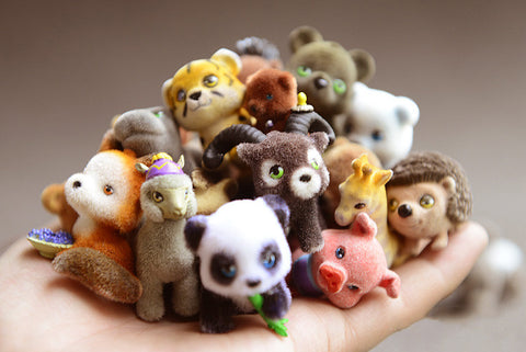 Japanese Wild and Farm Animals Toys