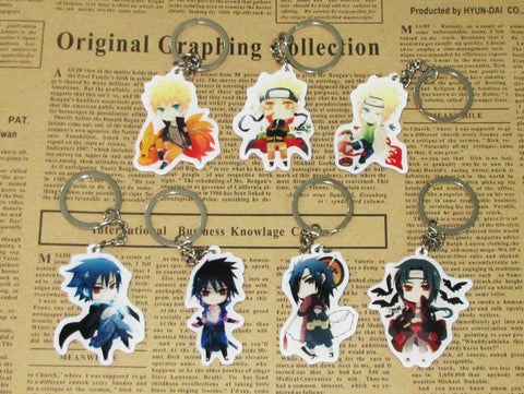 (7 pcs/lot) Naruto Anime Characters Key Chains