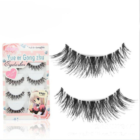 Crisscross False Eyelashes Natural Long - 5 Pair/Box - Kawaii Honbu