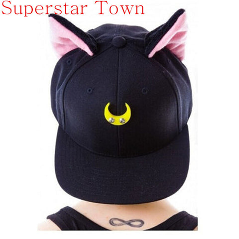 Sailor Moon Luna & Artemis Cat Ear Hat