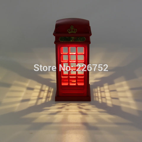London Telephone Booth LED Wall Lamp Night Light