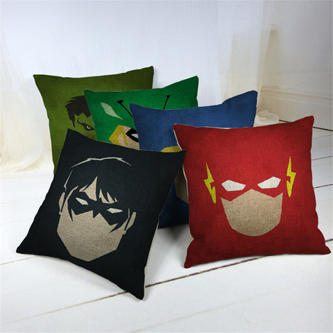 Marvel & DC Cartoon Style Decorative Cushions