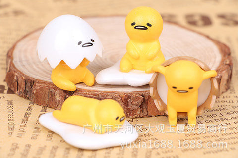 1 Set 4pcs Gudetama Egg 4Style Cute Action Figure - Kawaii Honbu