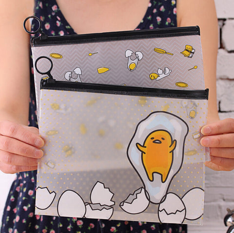 22*18 cm Gudetama Lazy Egg Cartoon PVC Document Bag File Folder - Kawaii Honbu