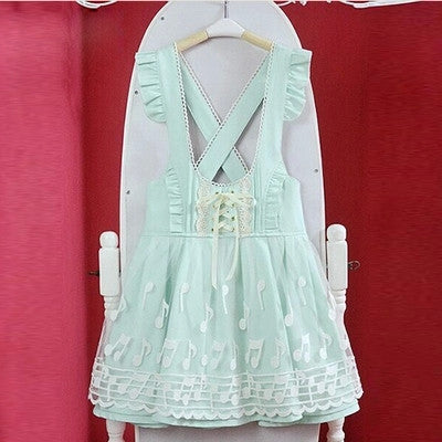 Cute Japanese Music note dress Lace - Kawaii Honbu