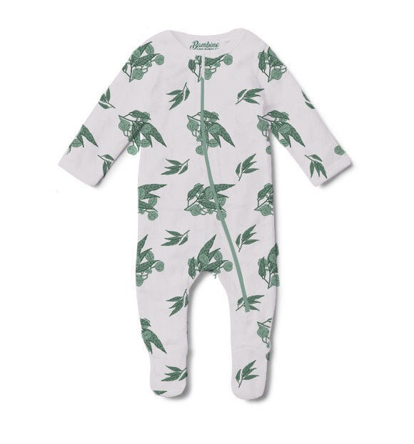 Gum Leaves Long Sleeve Jumpsuit