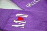 Monogrammed Men's Lilac Purple Groom Socks