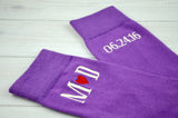 Monogrammed Men's Lilac Purple Dress Socks
