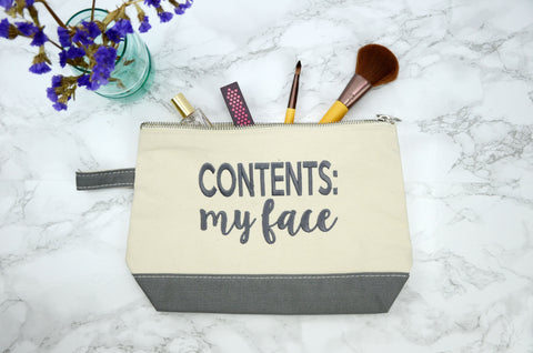 Contents: My Face Make Up Bag