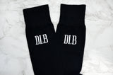 Men's Embroidered Dress Socks - Black