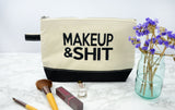 Block Font Makeup and Shit Bag