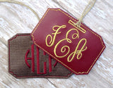 Monogrammed Luggage Tag