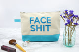 Face Shit Make Up Bag - Blue