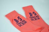 Coral Destination Wedding Dress Socks