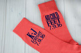 Coral Forever Embroidered Wedding Socks