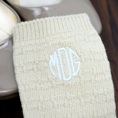 Styled Cream Women's Chunk Knit Socks