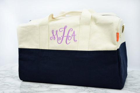 Monogrammed Color Block Duffel Bag - Travel Bag - Duffel Bag - Flight Bag - Personalized Gifts -