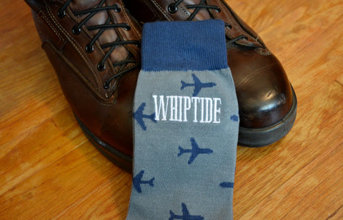 Men's Pilot Call Sign Embroidered Dress Socks