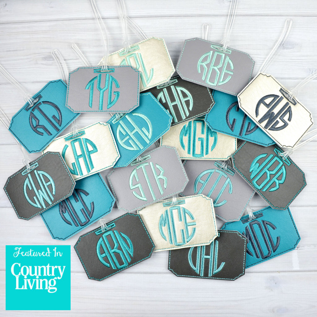 Country Living Feature Monogrammed Luggage Tag