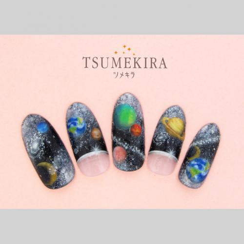 Tsumekira Colourful Galaxy Stickers