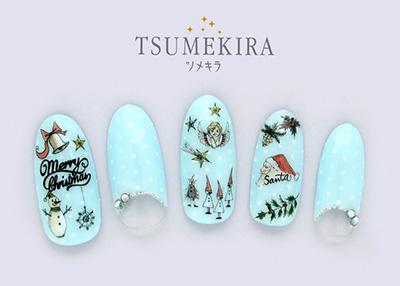 Tsumekira Christmas Stickers