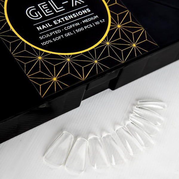 Aprés  Gel-X Tips - Sculpted Coffin Medium 500pcs and Re-fills