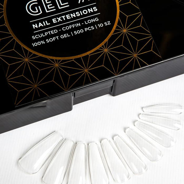 Aprés  Gel-X Tips - Sculpted Coffin Long 500pcs and Re-fills