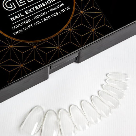 Aprés  Gel-X Tips - Sculpted Round Medium 500pcs and Re-fills