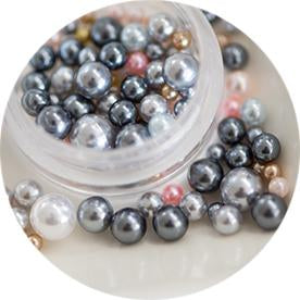 Ball Pearl Assorted Grey