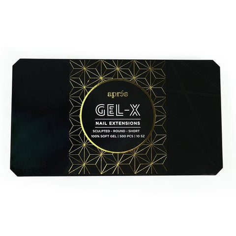 Aprés  Gel-X Tips - Sculpted Round Short 500pcs and Re-fills