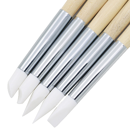 5 Piece Silicone Nail Art Pen