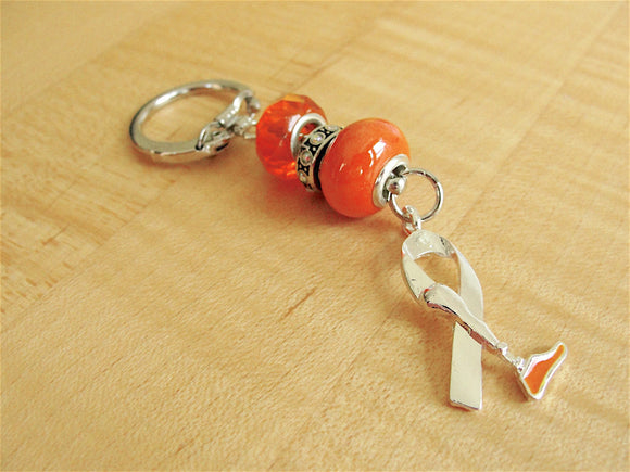 Amputee Awareness Key chain  -  Prosthetic Leg Awareness - Limb Loss Awareness - Twenty2Roses