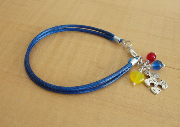 Autism Awareness Bracelet (Cotton) - Aspergers Syndrome Awareness - Twenty2Roses