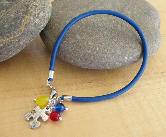 Autism Awareness Bracelet (Rubber) - Aspergers Syndrome Awareness - Twenty2Roses