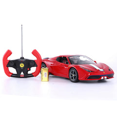 Ricco RC74500 Genuine Licensed 1: 14 Ferrari 458 Speciale A Licensed Convertible Remote Control Car Red - RICCO® Toys