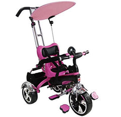 Easy Steer Stroller Trike With Pedal (Model:GR01) PINK - RICCO® Toys