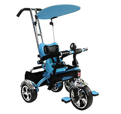 Easy Steer Stroller Trike With Pedal (Model:GR01) BLUE - RICCO® Toys