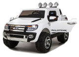 BLACK Ricco Licensed FORD RANGER 4x4 Kids Electric Ride On Car with Remote Control LED Lights and Music - RICCO® Toys