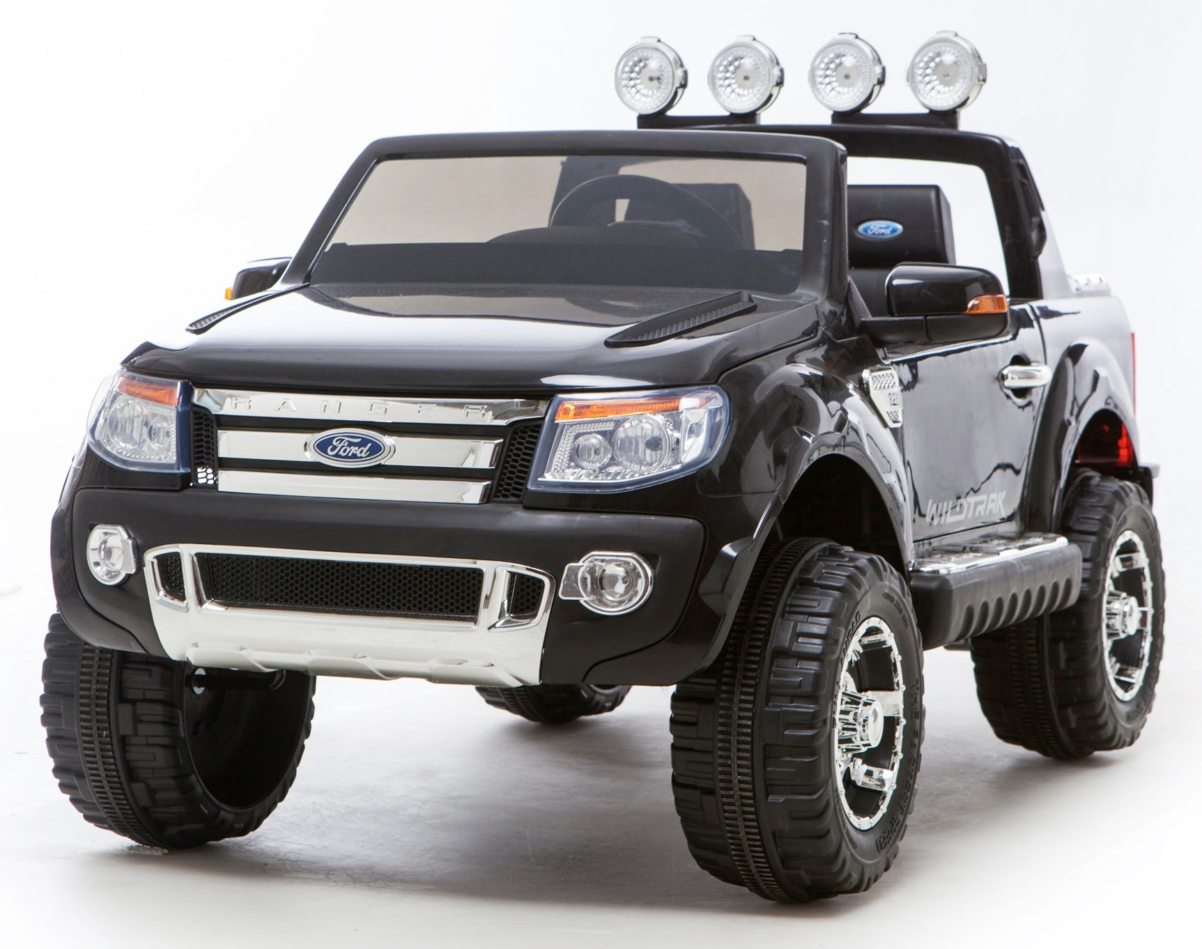 Black Ricco Licensed Ford Ranger 4x4 Kids Electric Ride On