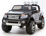 WHITE Ricco Licensed FORD RANGER 4x4 Kids Electric Ride On Car with Remote Control LED Lights and Music - RICCO® Toys