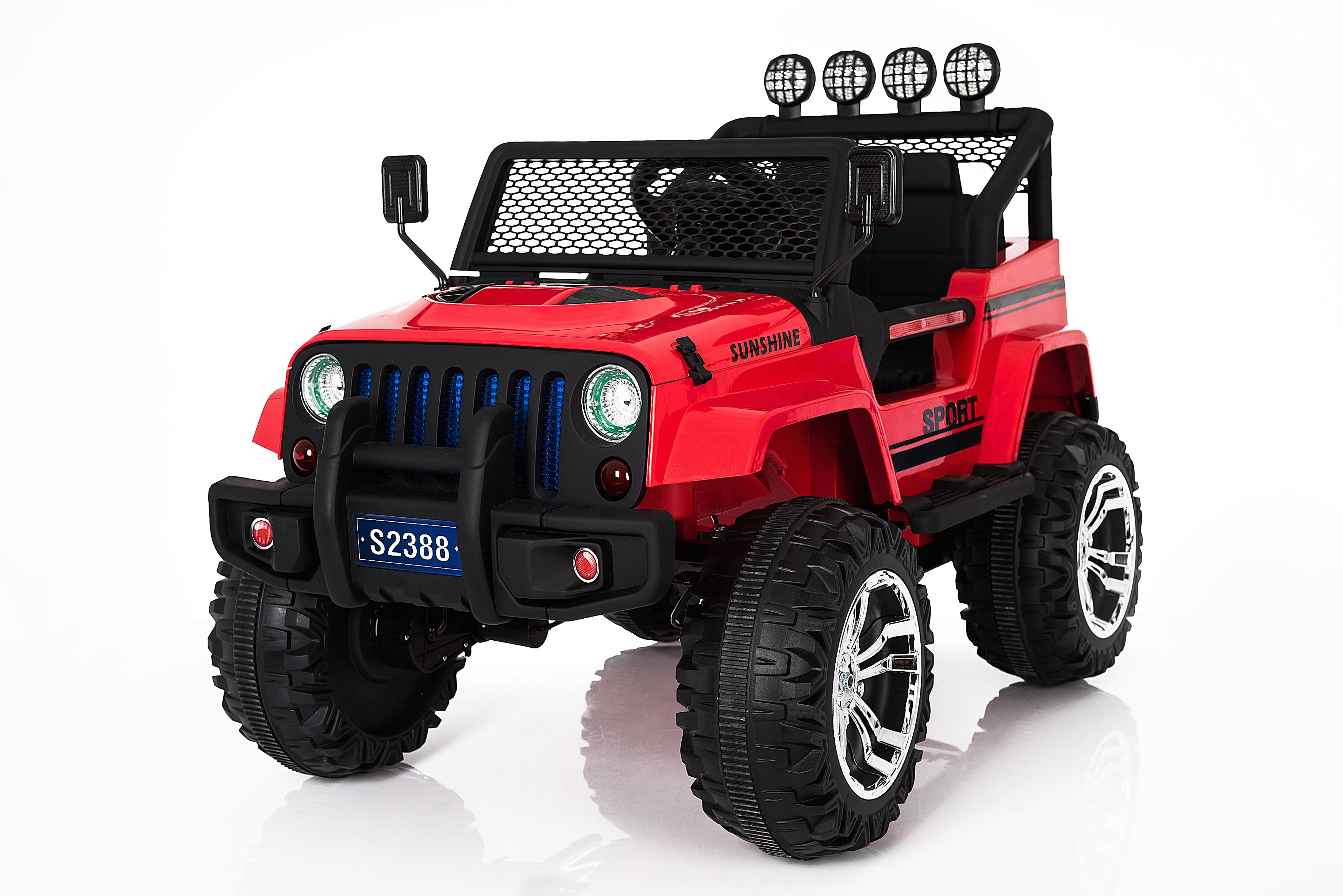 Ricco S2388 4x4 Kids Electric Ride On Car with Remote Control LED Lights and Music - RICCO® Toys