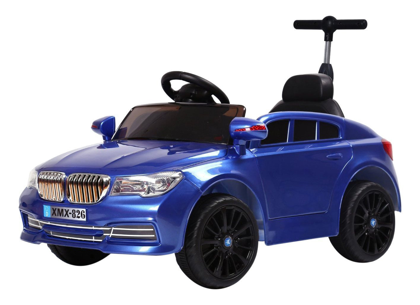 6V 50W Battery Powered BMW Style Twin Motor Electric Toy Car (Model: XMX826 ) BLUE - RICCO® Toys