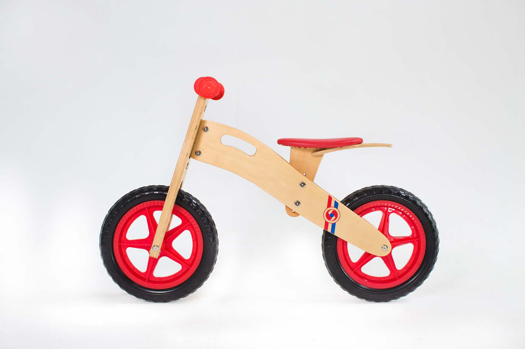 RICCO® Wooden Balance Bike Red (Model: BB16)