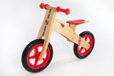 RICCO® Wooden Balance Bike Red (Model: BB16) - RICCO® Toys