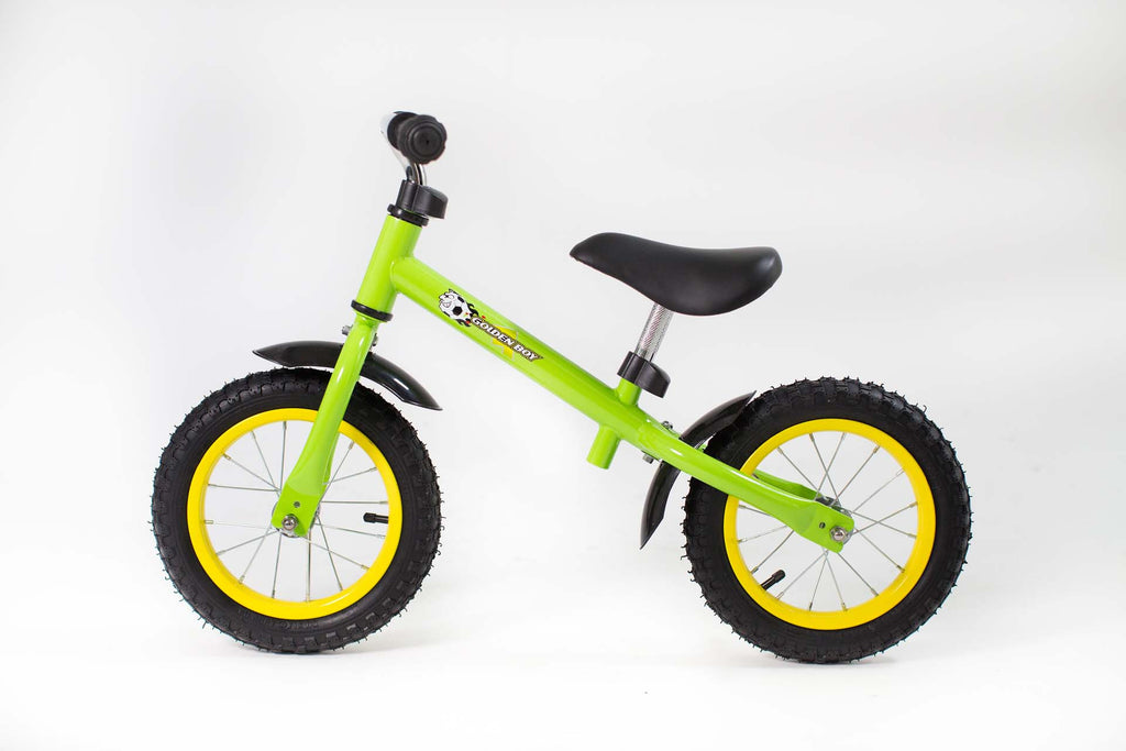 RICCO® Balance Bike with Air Wheels Lime Green (Model: BB07)