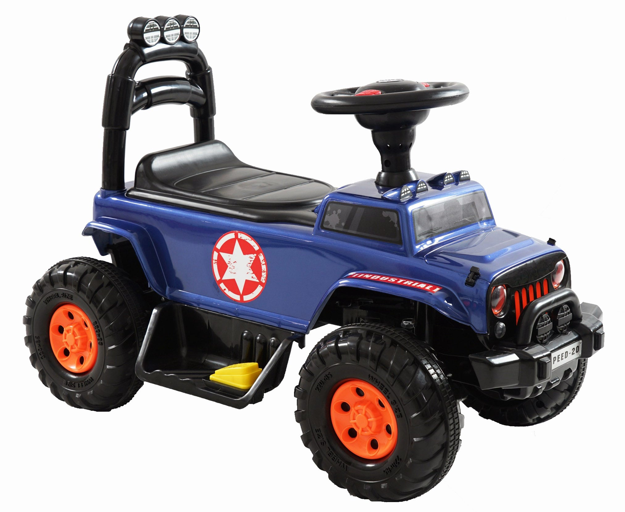 Kids 4x4 Mini Jeep Electric Ride On Foot to Floor Car Vehicle (Model: 810) BLUE - RICCO® Toys