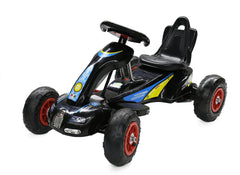 6V 12W Battery Powered Electric Go Kart Rubber Air Wheels (Model: S1288) BLACK - RICCO® Toys