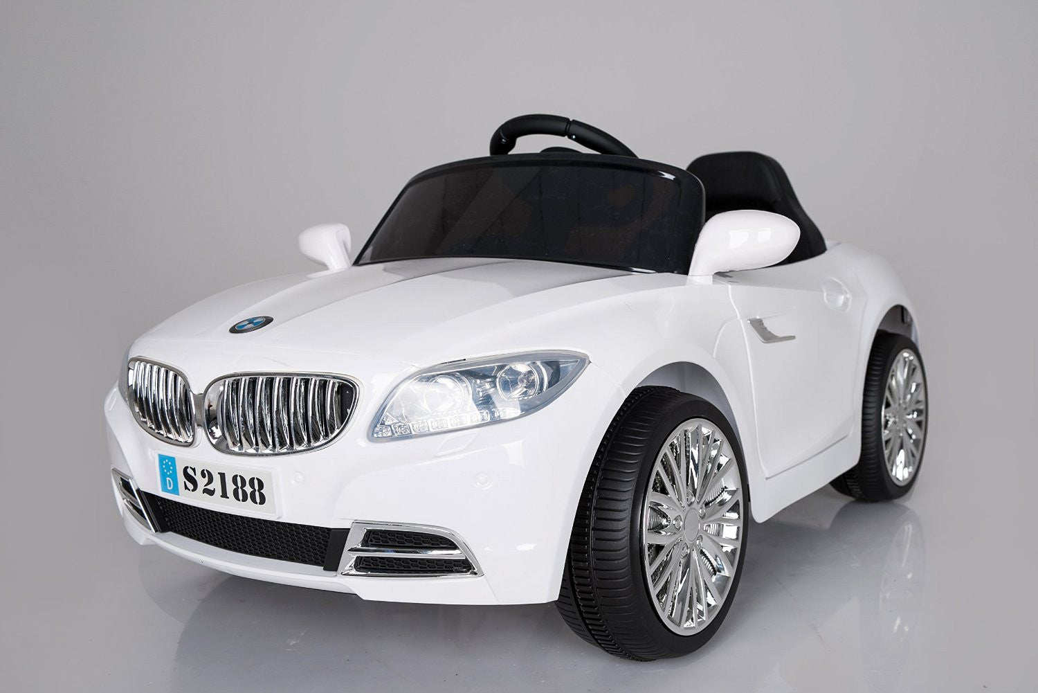 Ricco S2188 White Kids Coupe Bmw Style Ride On Car With Led Lights