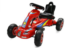 6V 12W Battery Powered Electric Go Kart Rubber Air Wheels (Model: S1288) RED - RICCO® Toys