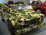 6V 50W Battery Powered Land Rover Style Twin Motor Electric Toy Car (Model: XMX885 ) CAMOUFLAGE - RICCO® Toys